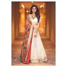 Keerthy Suresh (aka) Keerthi Suresh high quality photos stills images & pictures Indian Gowns Dresses, Indian Fashion Dresses, Dress Indian Style, Indian Designer Outfits, Indian Lehenga, Lehenga Choli, Anarkali, Lehenga Skirt, Silk Dupatta