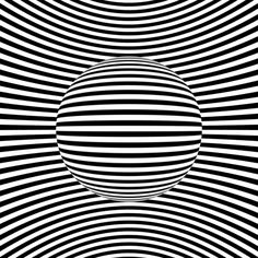 Generative Art Op-art animations: There´s a lot designers can do with just black and white. A collection of op-art inspired animated art, black & white only! Op Art, Illusion Kunst, Illusion Gif, Anim Gif, Gif Animé, Animated Gif, Cool Optical Illusions, Trippy Gif, Monochrom