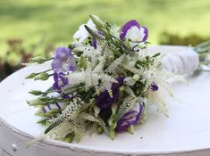 wedding flowers purple and green wild flowers - Google Search