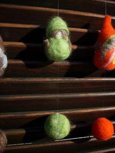 Palline gnomi needle felted idee regalo in lana di RaduraIncantata, €24,00