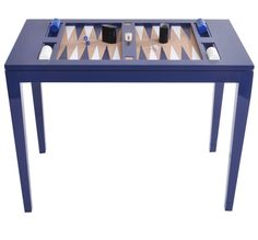 Backgammon Table, Navy by Oomph from oomph