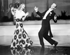 Fred Astaire and Ginger Rogers in Shall We Dance dancing to They All Laughed, 1937.  Just loving Ginger's dress!  Watch the full number @ http://www.youtube.com/watch?v=e9ph8vq5MXM