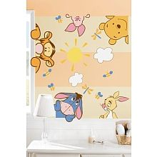 """Disney Pooh Soft & Fuzzy Wall Decals  Contemplating these for Lily's room!  They match her """"peeking Pooh"""" decor.  :-)"""