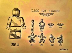 LEGO 1979 Toy Figure US Patent Graphite Pencil by MySalvagedPast
