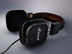 3D Modelling Marshall Headphones Model - 3D Model