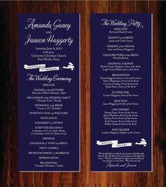 Wedding Program Template - Download Instantly - EDIT YOUR WORDING ...