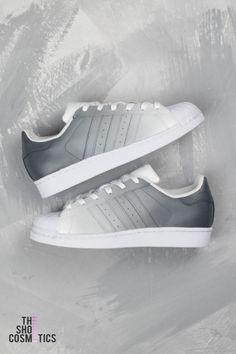 Adidas superstar grey custom sneaker - ombre design a1c8ac095