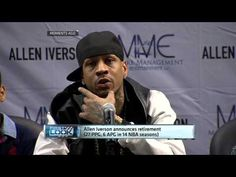 Allen Iverson Retires. WATCH VIDEO HERE: http://www.allanistheman.com/2013/10/NBA-Allen-Iverson-announces-retirement-VIDEO.html