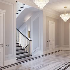 Enhance Your Senses With Luxury Home Decor Luxury Homes Interior, Luxury Home Decor, Home Interior Design, Home Design Floor Plans, Floor Design, Modern Classic Interior, Marble Stairs, Staircase Design, Modern House Design