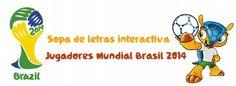 Sopa interactiva: jugadores de fútbol Brasil 2014