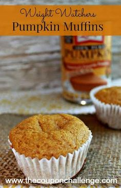 Tasty muffins that a bit healthier for you!  Try these Weight Watchers Pumpkin Muffins and get your pumpkin fix within your WW point allowance.
