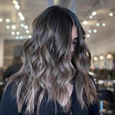 45 Pretty Brown Hair Color Ideas For Women Looks More Awesome Pretty Brown Hair, Light Ash Brown Hair, Ash Brown Hair Color, Brown Hair Shades, Black Hair With Highlights, Dark Brown, Cute Hairstyles For Short Hair, Curly Hair Styles, Bun Hairstyles