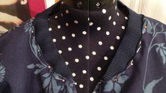 Tuto Blouson Bombers spécial printemps - Demereenfils.com : Blog Couture a quatre mains Blog Couture, Costume, Pulls, Polka Dot Top, Fashion Dresses, Kimono, Vest, Sewing, Pattern