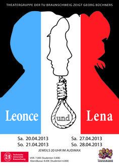 "Theaterplakat 2013: Georg Büchners ""Leonce und Lena"""
