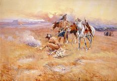 Blackfeet Burning Crow Buffalo Range - Charles Marion Russell - Wikipedia, the free encyclopedia