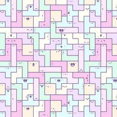 Kawaii Tetris Art Print by KiraKiraDoodles