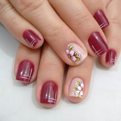 Visit the post for more. Opi, Nail Art Designs, Pretty Nails, Gorgeous Nails, Accent Nails, Easy Nails, Red Toenails, Nail Designs, Pretty Toe Nails