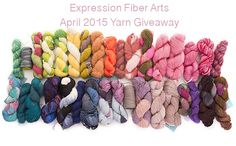 And yet another giveaway with gorgeous yarn from Expression Fiber Arts :) This one is for April 2015. Click and enter :D
