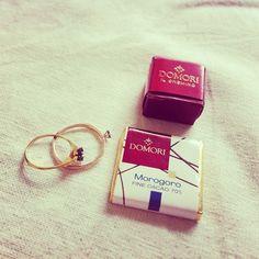 週末の戦利品は、チョコとアンティークの指輪。