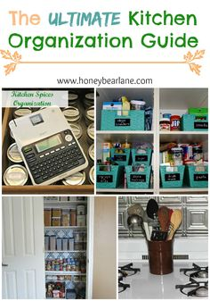 The ULTIMATE Kitchen Organization Guide! This is my New Year's resolution! Time to get organized in January!