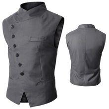 Мужская одежда мода мужской британский стиль тонкий Colete Masculino хлопок безрукавка жилет мужчины жилет M301(China (Mainland))