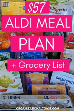 Check out our family of four's aldi grocery haul and meal plan. Find out exactly what we bought and what our meal plan looks like! Cheap Meal Plans, Aldi Meal Plan, Meal Plan Grocery List, Grocery Haul, How To Plan Meals, Grocery Lists, Meal Prep, Budget Freezer Meals, Healthy Freezer Meals