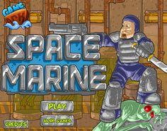 Un Marine del espacio esta listo para la gran batalla donde tiene que proteger la base espacial de los ataques de los zombies, donde varios se teletransporta en la nave y tienes que eliminar cada uno, utiliza los cursores y A,S,D para atacar.