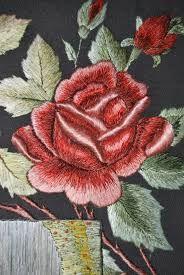 Kết quả hình ảnh cho вышивка гладью букеты роз
