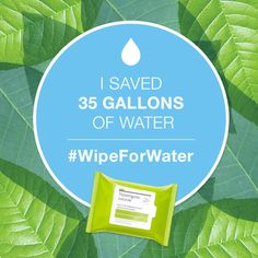 Did you know you can use up to 5 gallons of water when washing your face? Wipe out waste by joining Neutrogena water conservation movement at www.wipeforwater.com. For each pledge received in April, Neutrogena Naturals will donate $1 to The Nature Conservancy. ‪#‎WipeforWater‬ ‪#‎GotItFree‬