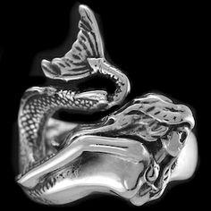 LARGE MERMAID RING $150. 925 Sterling Silver. www.rasnickjewelry.com