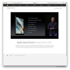 """••Apple iPad Pro!! out Nov!•• watch Apple event3 for 2015: 2015-09-09 Wed """"Hey Siri, give us a hint."""" •iPad Pro features: 12.9"""" Retina / 65bit A9X chip / 4 speakers / 10hr battery / 8MP iSight cam / 802.11ac with Mimo / 150 Mbps LTE / Touch ID • iPad mini2 is now $269! ; )"""