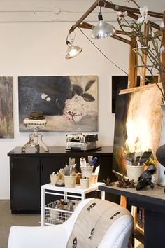 Ikea Art Studio Interior Design 16 Ideas For 2019 Atelier Creation, Atelier D Art, Art Studio Design, My Art Studio, Design Art, Studio Ideas, Studio Interior, Interior Design, Art Studio Lighting