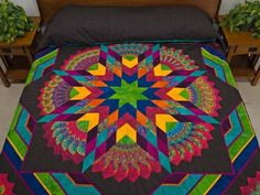 King Bright Bertha Quilt | Embroidery and Crafts | Pinterest on We Heart It.