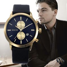 2016 Mens Watches Top Brand Luxury Quartz Watch Casual Leather Sports Wrist watch Montre Homme Male Clock relogio masculino Like and Share if you want this  #shop #beauty #Woman's fashion #Products #Watch
