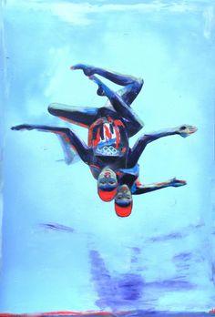 Team GB Synchronised Swimmers Team Gb, Underwater, Athlete, Swimming, Illustrations, Art, Swim, Art Background, Illustration