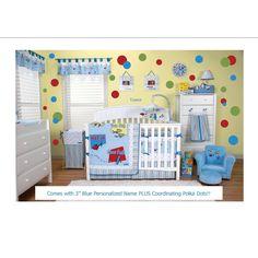 Dr Seuss nursery set.  Love the polka dots!!!
