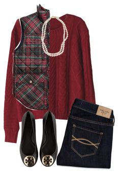 """Untitled #277"" by natalee-deaton ❤ liked on Polyvore featuring Abercrombie & Fitch, STELLA McCARTNEY and Tory Burch"