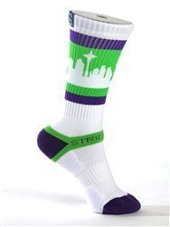 Strideline Socks / Sea Town / The Wonka Plus / Strapped Fit by Strideline. $17.99. The New Crew by Strideline is a comfortable Skyline sock unlike any other. The design is original and the colors are brilliant. Strideline SeaTown Socks go beyond functional, and they are more than comfortable, they make a statement.