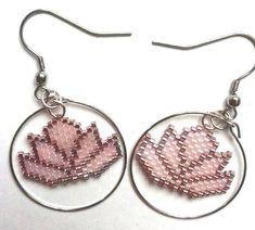 Boucles d'oreilles Lotus perles roses #perlemiyuki