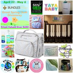 Don't miss this huge giveaway, which includes cloth diapers from Hipkiddo, Best Bottoms, Butt-Ons, Green Line, plus a JuJeBe Diaper Bag, a diaper clutch from the lovely Maxwell Designs, and much, much more! http://www.thinking-about-cloth-diapers.com/cloth-diaper-giveaway.html