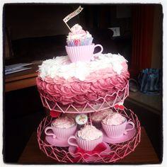 Ombré style birthday cake