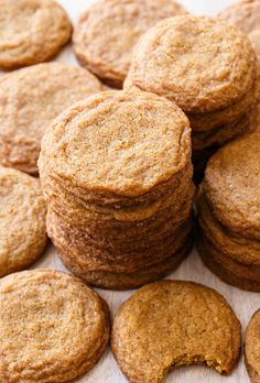 Molasses Snickerdoodles. #recipes #foodporn #desserts #cookies