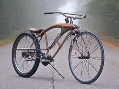 "girls bike with custom fiberglass tank ""men's bike"" conversion"