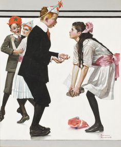 Children Dancing at a Party (Pardon Me) -Norman Rockwell 1918