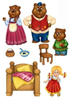 Fairy Tale Activities, Preschool Learning Activities, Preschool Crafts, Teaching Kids, Activities For Kids, Writing Pictures, Goldilocks And The Three Bears, Kids Math Worksheets, Three Little Pigs