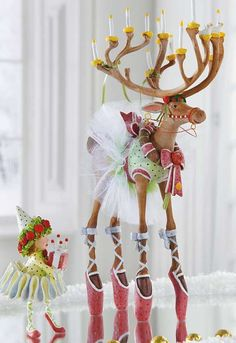 Bring a touch of whimsical character to your Christmas display with the Patience Brewster Dancer Dash Away Reindeer Character that features stunning hand-painted details that are sure to delight your guests.