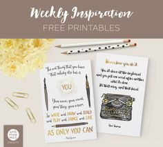 Weekly Inspiration – Neil Gaiman's words are the best motivation for any creatives - free printables