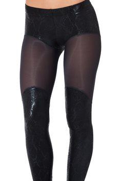 XS I Eat Mice Bootleg Sheer Leggings - BlackMilk Clothing