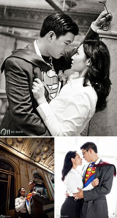 Themed Engagement photography: Lois & Clarke, superman | Now that's just Geeky fun ^_^
