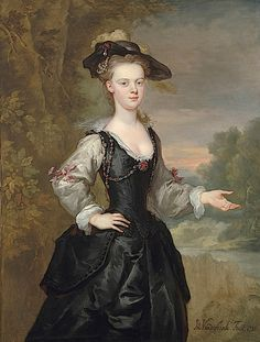 1731 Portrait of an English Lady by John Vanderbank (at Philip Mould, London)